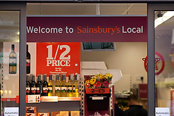 © Licensed to London News Pictures. 14/11/2012. London, UK. A Sainsbury's is seen in West London on the day (14/11/12) that the supermarket announced pre-tax profits up by 2.5%. Photo credit: Matt Cetti-Roberts/LNP