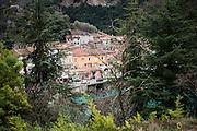 December 5, 2016 - Breil-sur-Roya, France: the traditional old well preserved mountain village Breil-sur-Roya in the Roya valley, in the Alps, on the French Italian border, where habitats formed a network to help migrants who walked into the valley from Ventimiglia, Italy. <br /> <br /> 5 décembre 2016 - Breil-sur-Roya, France: 120 habitants de l'ancien village historique de montagne, traditionnel et préservé Breil-sur-Roya, dans la vallée de la Roya, dans les Alpes, à la frontière entre la France et l'Italie, ont formé un réseau pour aider les migrants venus de Ventimiglia, Italie