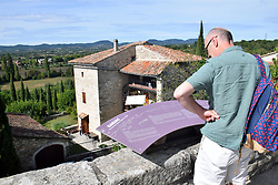 Tourist in Barjac, Gard, Southern France 2021. MR