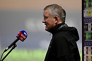 Sheffield United manager Chris Wilder interviewed by Sky Sports during the Premier League match between West Bromwich Albion and Sheffield United at The Hawthorns, West Bromwich, England on 28 November 2020.