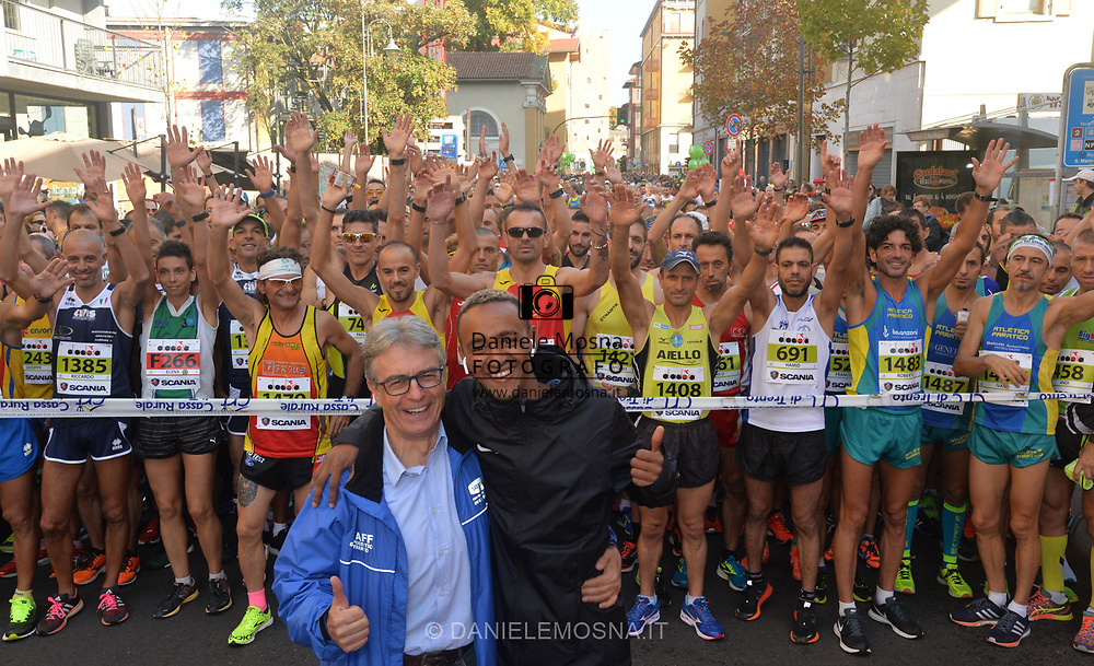 Trento Running Festival - October the 7th, 2018 -  Trento, Italy. Trento Half Marathon  - Ladies victory for Joyce Chepkemoi and men's Abraham Akopesha, both from Kenya.<br /> © DANIELEMOSNA.IT