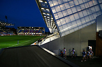 The St Helens team walks out of the side of a stand ready for the second half<br /> <br /> Photographer Alex Dodd/CameraSport<br /> <br /> Rugby League - Betfred Challenge Cup Quarter Finals - St Helens v Huddersfield Giants - Friday 7th May 2021 - Emerald Headingley Stadium - Leeds<br /> <br /> World Copyright © 2021 CameraSport. All rights reserved. 43 Linden Ave. Countesthorpe. Leicester. England. LE8 5PG - Tel: +44 (0 116 277 4147 - admin@camerasport.com - www.camerasport.com