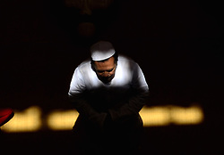 June 2, 2017 - Allahabad, India - An indian muslim devotee offers first friday prayers at vasiullah mosque , during holy fasting month of Ramadan ,  in Allahabad on June 2,2017. (Credit Image: © Ritesh Shukla/NurPhoto via ZUMA Press)