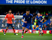 Chelsea's Armando Brojo during an English Premier League soccer match between Chelsea and Everton at Stamford Bridge stadium, Sunday, March 8, 2020, in London, United Kingdom. Chelsea defeated Everton 4-0. (Mitchell Gunn-ESPA Images/Image of Sport via AP)