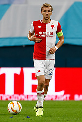 October 4, 2018 - Saint Petersburg, Russia - Tomas Soucek of SK Slavia Prague in action during the Group C match of the UEFA Europa League between FC Zenit Saint Petersburg and SK Sparta Prague at Saint Petersburg Stadium on October 4, 2018 in Saint Petersburg, Russia. (Credit Image: © Mike Kireev/NurPhoto/ZUMA Press)