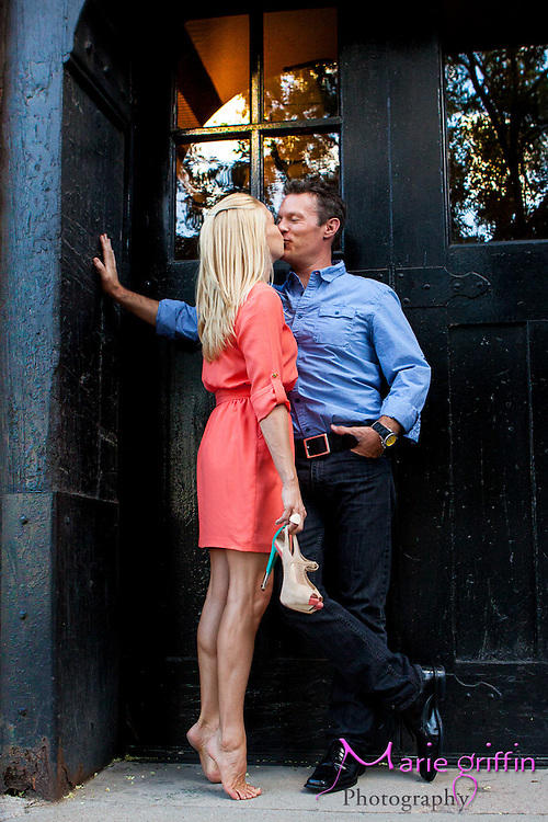 Kimberly and Sean engagement photos around downtown Denver on July 25, 2012.<br /> By: Marie Griffin Dennis<br /> mariefgriffin@gmail.com<br /> mariegriffinphotography.com