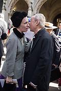 LADY FRANCES VON HOFMANNSTHAL,BARNEY WAN<br /> , Service of thanksgiving for  Lord Snowdon, St. Margaret's Westminster. London. 7 April 2017