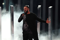 May 7, 2018 - Lisbon, Portugal - Singer Sevak Khanagyan of Armenia performs during the Dress Rehearsal of the first Semi-Final of the 2018 Eurovision Song Contest, at the Altice Arena in Lisbon, Portugal on May 7, 2018. (Credit Image: © Pedro Fiuza/NurPhoto via ZUMA Press)