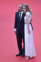 Lily-Rose Depp and Asghar Farhadi arriving at Les Fantomes d'Ismael screening and opening ceremony held at the Palais Des Festivals in Cannes, France on May 17, 2017, as part of the 70th Cannes Film Festival. Photo by Aurore Marechal/ABACAPRESS.COM