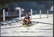 Henley on Thames,  United Kingdom, USA. M2-, Ted SWINFORD and John RILEY, 1988 Henley Royal Regatta, Henley Reach, Thames Valley, British Summertime.<br /> [Mandatory Credit, Peter SPURRIER/Intersport Images]