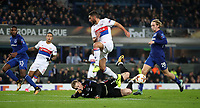 Football - 2017 / 2018 UEFA Europa League - Group E: Everton vs. Olympique Lyonnais (Lyon)<br /> <br /> Jordan Pickford of Everton makes a save at Goodison Park.<br /> <br /> COLORSPORT/LYNNE CAMERON