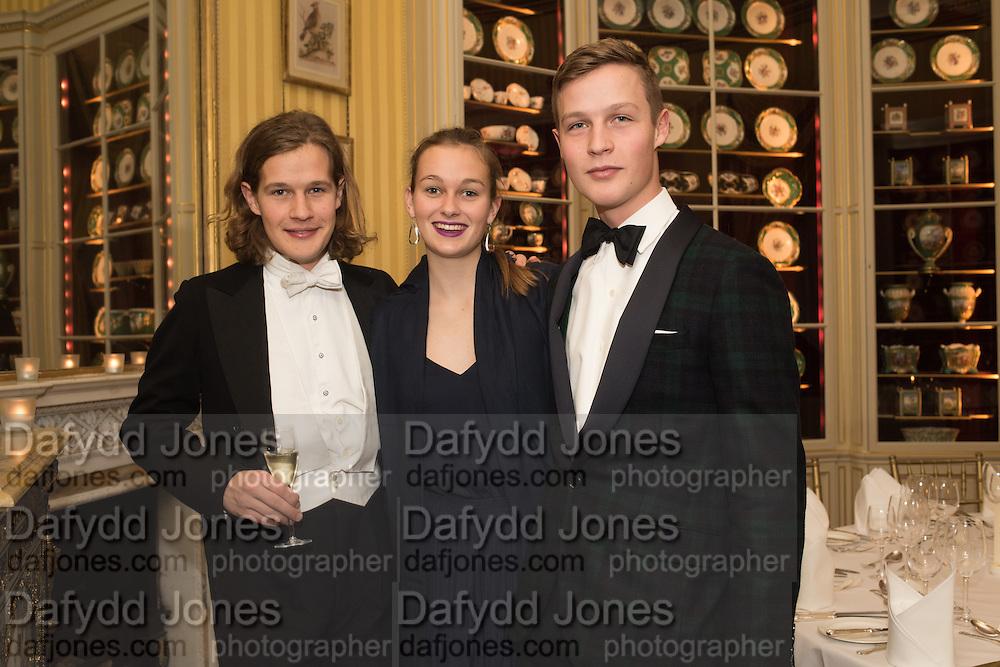 CHARLES SETTRINGTON; EMMA MICHAUD; WILLIAM GORDON-LENNOX, Charlton Hunt Ball at Goodwood House.  6 February 2016