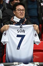 AsianTottenham Hotspur fans with Tottenham Hotspur's Son Heung-min shirt