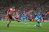 Football - 2016 / 2017 Premier League - Southampton vs.AFC Bournemouth<br /> <br /> Southampton's Jay Rodriguez get a shot on goal well saved at St Mary's Stadium, Southampton<br /> <br /> COLORSPORT/SHAUN BOGGUST