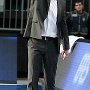 Partizan's coach Vlada JOVANOVIC during their Turkish Airlines Euroleague Basketball Group C Game 6 match Anadolu Efes between Partizan at Sinan Erdem Arena in Istanbul, Turkey, Wednesday, November 23, 2011. Photo by TURKPIX