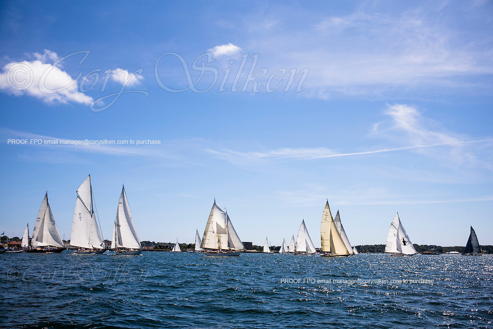 sailing in the Museum Of Yachting Classic Yacht Regatta, day one.