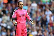 Lee Camp, the Rotherham Utd goalkeeper looks on.EFL Skybet championship match, Aston Villa v Rotherham Utd at Villa Park in Birmingham, The Midlands on Saturday 13th August 2016.<br /> pic by Andrew Orchard, Andrew Orchard sports photography.