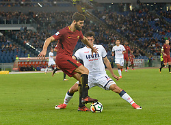 October 25, 2017 - Italy - Federico Fazio, Ante Budimir during the Italian Serie A football match between A.S. Roma and F.C. Crotone at the Olympic Stadium in Rome, on october 25, 2017. (Credit Image: © Silvia Lor/Pacific Press via ZUMA Wire)