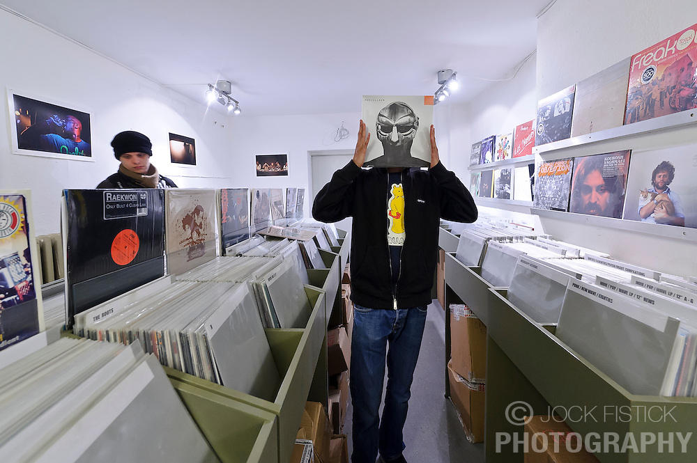 Cologne, Germany, Jan. 2012 - The Groove Attack record store, specializes in obscure hip-hop and rap, and can be found in the basement at Maastrichter Strasse 49; 49-221-522-037; grooveattackrecordstore.com). (Photo © Jock Fistick).