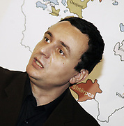 """Wednesday, November 12, 2008<br /> Pristina, Kosovo<br /> The leader of Self-Determination, Albin Kurti on Wednesday said that Kosovar leaders must keep an unwavering  rejection against this plan, considering how gravely will damage Kosovo in case of accepting it.<br /> <br /> Kurti, added that there is a likely possibility to miss another political momentum to keep Kosovo sovereign like we did miss in 1999. Albin stressed that """"Kosovo has its Constitution, therefore, police, justice, customs, border control, transport and culural heritage are interior matters of the Republic of Kosovo.""""<br /> <br /> Activists of the Self-Determination Movement also introduced their proposition where Kosovo should  seriously focus on its territorial integrity and economic development.<br /> <br /> Otherwise, they said if the Government of Kosovo does not resists this destructive UN plan, the Movement will organize massive protests and demonstrations.<br /> PICTURED: Albin KURTI the Kosovo Self-Determination movement leader<br /> Vedat Xhymshiti / ZUMA Press"""