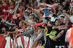 A general view of Cologne fans in the crowd - Mandatory by-line: Patrick Khachfe/JMP - 14/09/2017 - FOOTBALL - Emirates Stadium - London, England - Arsenal v Cologne - UEFA Europa League Group stage