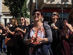 October 2, 2018 - Athens, Attiki, Greece - Employees of the Help At Home program that support the elderly and the disabled demonstrate in Athens against further austerity measures. (Credit Image: © George Panagakis/Pacific Press via ZUMA Wire)