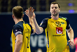 Niclas Ekberg of Sweden reacts during handball match between National Teams of Sweden and Slovenia at Day 3 of IHF Men's Tokyo Olympic  Qualification tournament, on March 14, 2021 in Max-Schmeling-Halle, Berlin, Germany. Photo by Vid Ponikvar / Sportida