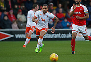 Blackpool's Kyle Vassell during the EFL Sky Bet League 1 match between Fleetwood Town and Blackpool at the Highbury Stadium, Fleetwood, England on 25 November 2017. Photo by Paul Thompson.