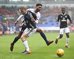 Tim Ream of Fulham (L) and Mark Little of Bolton Wanderers in action - Mandatory by-line: Jack Phillips/JMP - 10/02/2018 - FOOTBALL - Macron Stadium - Bolton, England - Bolton Wanderers v Fulham - English Football League Championship