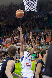 04.09.2013, Hala Tivoli, Ljublijana, SLO, Eurobasket EM 2013, Frankreich vs Deutschland, im Bild Tony Parker #9 of France // during the Eurobasket EM 2013 match between France and Germany at Hala Tivoli in Ljubljana, Slowenia on 2013/09/04. EXPA Pictures © 2013, PhotoCredit: EXPA/ Sportida/ Urban Urbanc<br /> <br /> ***** ATTENTION - OUT OF SLO *****