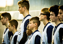 Scotland's Karamoko Dembele with team mates. Scotland 2 v 2 Wales, Under 16 Victory Shield, Oriam 1/11/2016.