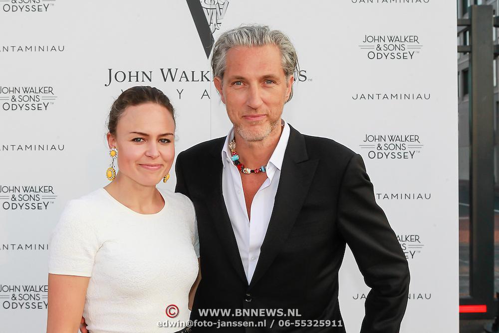 NLD/Amsterdam/20130705 - Presentatie Johnnie Walker Voyager - Jan Taminiau coctail, Marcel Wanders en …..