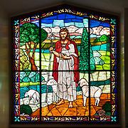 Window 1 on plan. First Baptist Church, Bar Harbor, Maine.