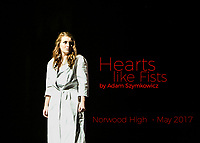"Norwood High Drama in Norwood MA presents ""Hearts like Fists"" by Adam Szymkowicz. May 2017"