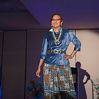 Navajo Nation First Lady Phefelia Nez participated in the Navajo Spirit Fashion Show, Wednesday, August 7 at the Miss Gallup Inter-Tribal Indian Ceremonial Queen Luncheon in Gallup.