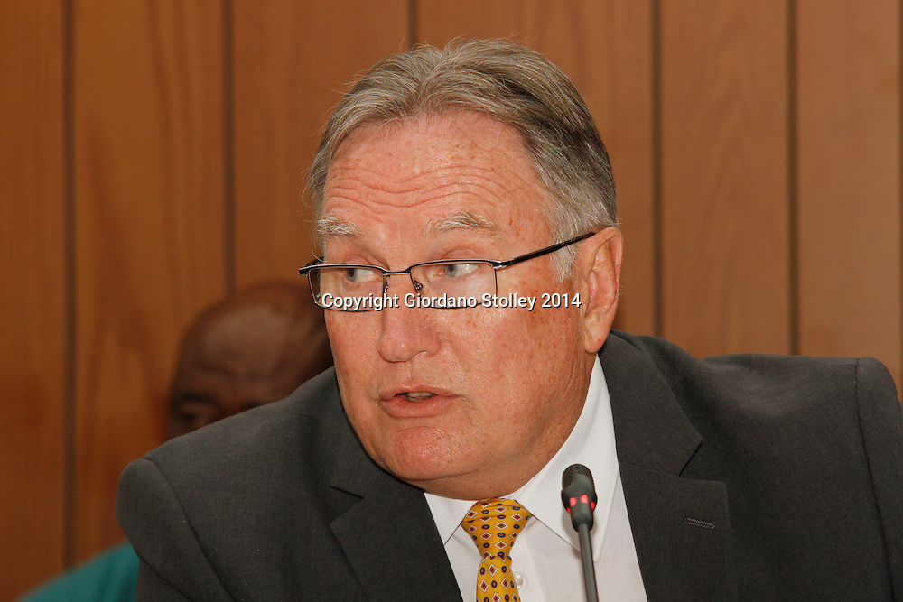 DURBAN - 24 July 2014 - Advocate Ian Topping asks questions at a Department of Labour commission of inquiry established to probe the events that led to a Tongaat Mall collapsing, killing two people and injuring 29 on November 19, 2013. Topping was appointed by the eThekwini Metro Municipality, which had never approved the plans for the mall and despite going to court failed to stop Gralio Precast (Pty) Ltd from proceeding with the ill-fated mall. Picture: Allied Picture Press/APP