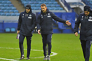 Adam Barrett, Gary Rowett during the EFL Sky Bet Championship match between Sheffield Wednesday and Millwall at Hillsborough, Sheffield, England on 7 November 2020.