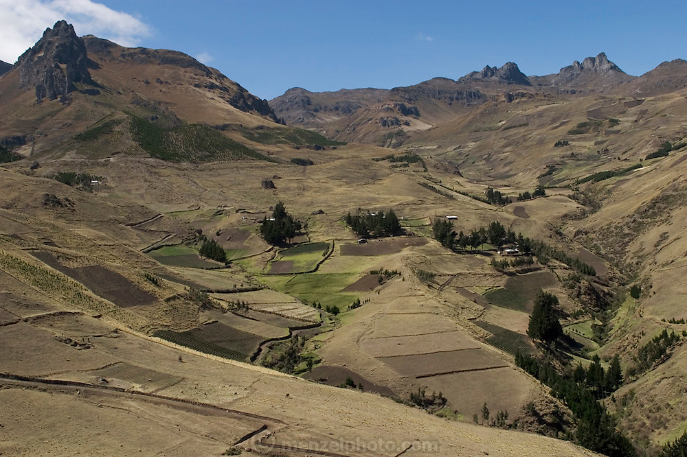 The small village of Tingo, Ecuador (at 11,000 feet). (Supporting image from the project Hungry Planet: What the World Eats.)