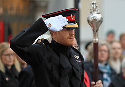 Prince Harry at Westminster Abbey's Field of Remembrance in London to honour the fallen ahead of Armistice Day.