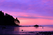 Sunrise on Ruby Beach. Olympic National Park , Washington.