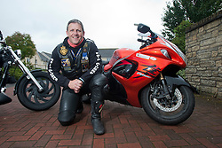 Chairman Colin MacNab, of The Riders Branch, The Royal British Legion Scotland (RBL Scotland Riders or RBLS Riders). They attend all military ceremonies including funerals in Scotland..©Pic : Michael Schofield..