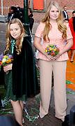Koningsdag 2018 in Groningen / Kingsday 2018 in Groningen.<br /> <br /> Op de foto: Prinses Amalia en Prinses Ariane ///  Princess Amalia and Princess Ariane