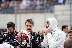 September 1, 2019, Francorchamps, Belgium: LEWIS HAMILTON of Mercedes AMG Petronas Motorsport on the starting grid before the Formula 1 Belgian Grand Prix at Circuit de Spa-Francorchamps in Francorchamps, Belgium. (Credit Image: © James Gasperotti/ZUMA Wire)