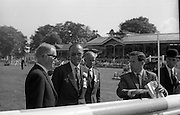 09/08/1967<br /> 08/09/1967<br /> 09 August 1967<br /> His Royal Highness Prince Bernhardt of the Netherlands at the RDS Horse Show, Ballsbridge Dublin. The Prince was F.E.I. Representative at the show. Picture shows His Royal Highness inspecting the course prior to the John Higgins Memorial Perpetual Challenge Trophy International Jumping Competition. On left is Mr. John  E. Wylie a member of the ground jury.