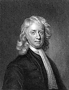Isaac Newton (1642-1727) English mathematician and physicist. Engraving after the portrait by Enoch Seeman.