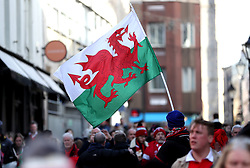 General view of Wales fan arriving to the ground before the Guinness Six Nations match at the Principality Stadium, Cardiff.