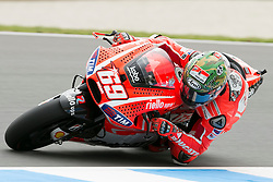 © Licensed to London News Pictures. 20/10/2012. Nicky Hayden (USA) riding for the Ducati Team during the Race day of the round 16 2013 Tissot Australian Moto GP at the  Phillip Island Grand Prix Circuit Victoria, Australia. Photo credit : Asanka Brendon Ratnayake/LNP