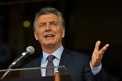 July 29, 2017 - Buenos Aires, Argentina - President of Argentina MAURICIO MACRI speaks during the 131th Rural Exhibition (Spanish: La Exposicion Rural), an annual agricultural and livestock show, in Buenos Aires, Argentina. (Credit Image: © Anton Velikzhanin via ZUMA Wire)