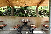 outdoor restaurant<br /> table set