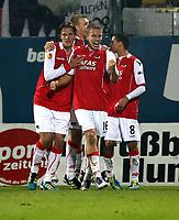 Fotball<br /> Østerrike<br /> Foto: Gepa/Digitalsport<br /> NORWAY ONLY<br /> <br /> 03.11.2011<br /> UEFA Europa League, Gruppenphase, FK Austria Wien vs AZ Alkmaar<br /> <br /> Bild zeigt den Jubel von Alkmaar.
